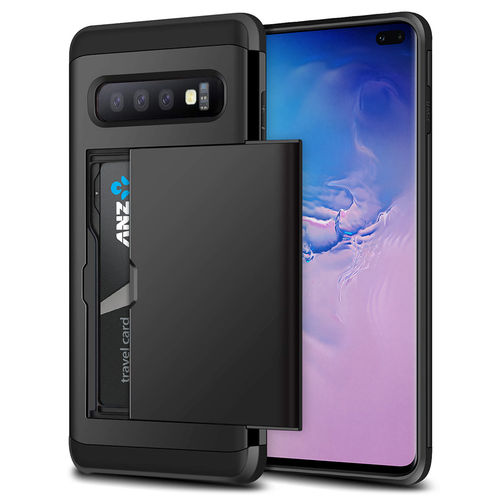 Tough Armour Slide Case & Card Holder for Samsung Galaxy S10+ (Black)
